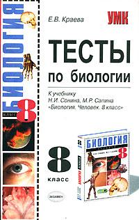 Обложка книги биология 8 класс учебник сонин