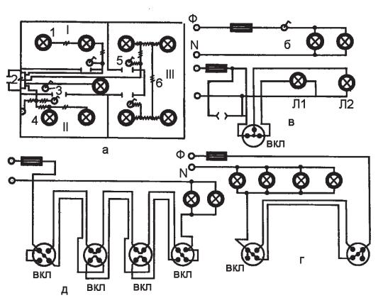 Схемы электрических проводок: