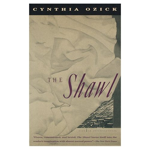 "a review of cynthia ozicks book the shawl In the opening paragraph of cynthia ozick's ""the shawl"" the author uses symbolism to evoke the characters' despair and coldness the opening line, stated in the third person, sets the tone for a journey of misery."