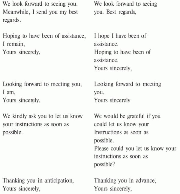Для примеры английском на языке знакомства писем