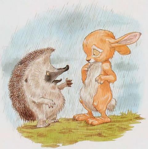 картинка заяц белка и ежик всех, кто мечтает
